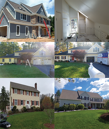 exterior and interior residential house painters painting in MA & NH
